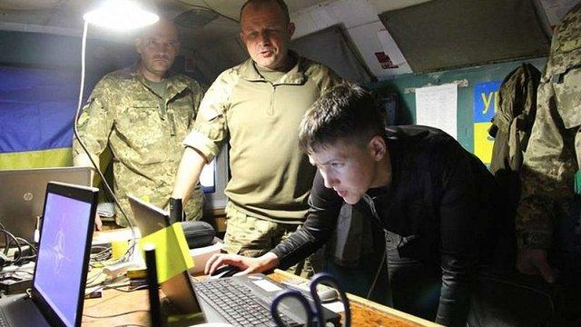 Надія Савченко уночі побувала в зоні АТО