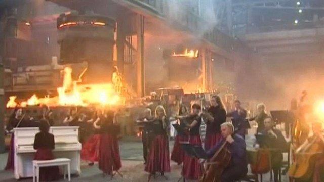 Музику з «Гри престолів» виконали на металургійному комбінаті Маріуполя