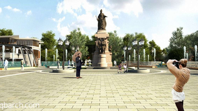 Столицю Криму запрудять привезеними з Підмосков'я пам'ятниками Катерині ІІ та її коханцю