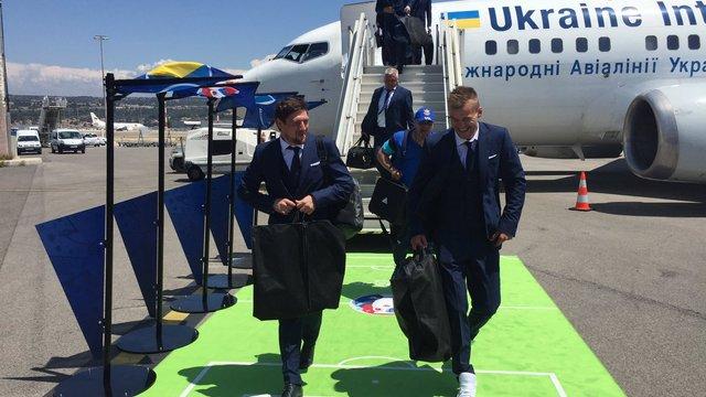 Збірна України прибула до Франції на Євро-2016