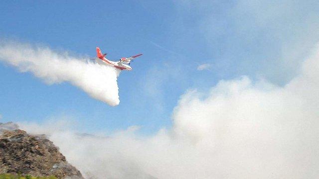 Пожежна авіація відновила роботу на сміттєзвалищі в Грибовичах