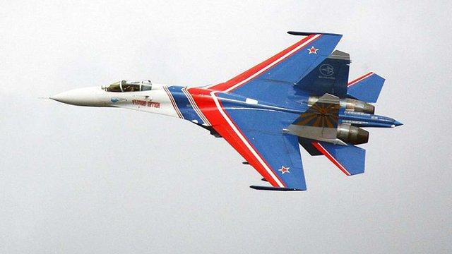 Під Москвою розбився російський винищувач Су-27