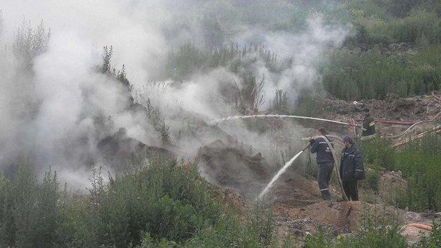 Сміттєзвалище в Жидачеві другий день поспіль димить