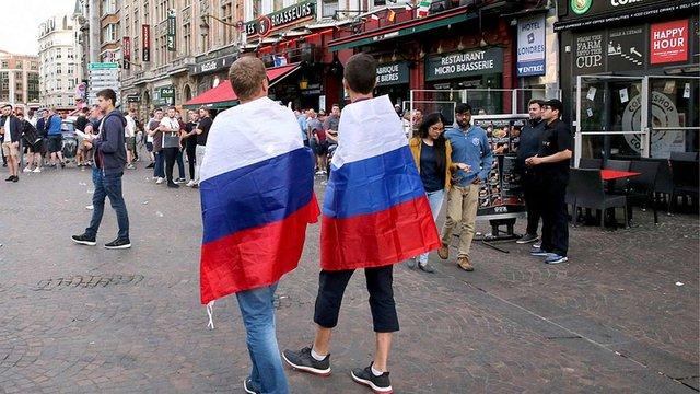 Французька поліція затримала чотирьох вболівальників збірної Росії у Ліллі
