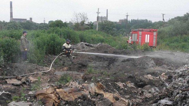 Причиною пожежі сміттєзвалища у Жидачеві називають вивезення сміття зі Львова