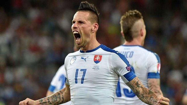 Збірна Словаччини завдала першої поразки Росії на Євро-2016