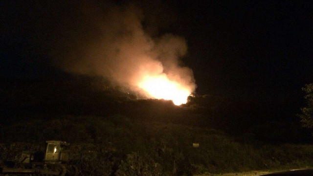 Уночі на Грибовицькому сміттєзвалищі вчергове виникла пожежа
