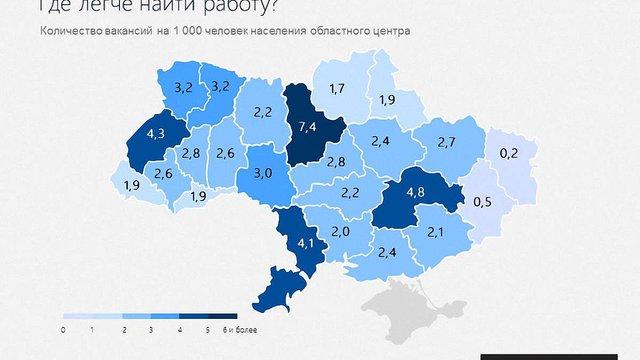 Де в Україні найпростіше і найскладніше знайти роботу (інфографіка)
