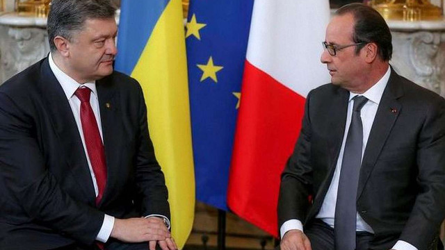 Порошенко та Олланд обговорюватимуть санкції проти РФ та мирне врегулювання на Донбасі, – ЗМІ