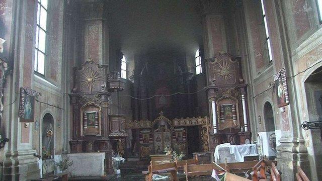 У Комарно на Львівщині горіла церква XVII століття