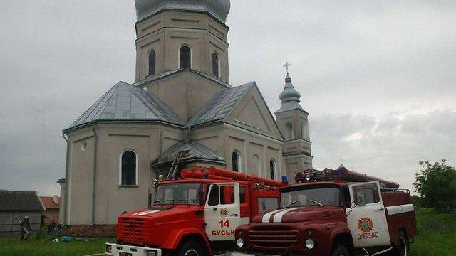 У Буському районі горіла ще одна церква