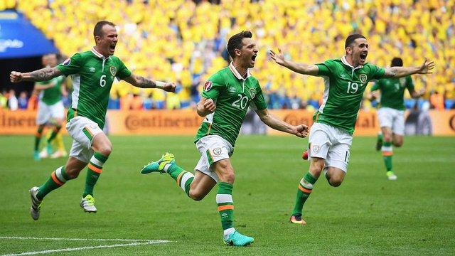 Збірна Ірландії вийшла в 1/8 фіналу Євро-2016