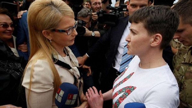 Юлія Тимошенко розкритикувала Надію Савченко за ініціативу про прямі переговори з бойовиками