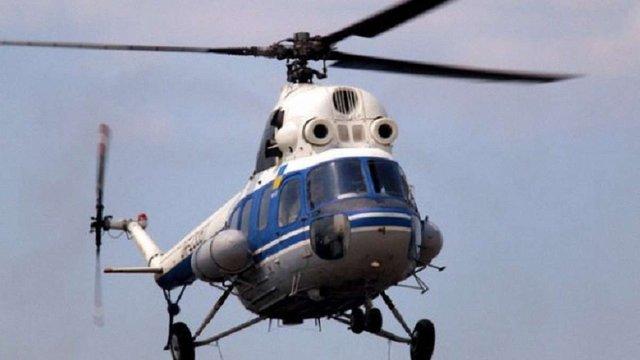 На Харківщині впав вертоліт, постраждали двоє людей