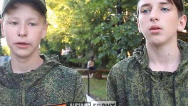 Школярів з «ЛНР» вчили стріляти в таборі міноборони РФ