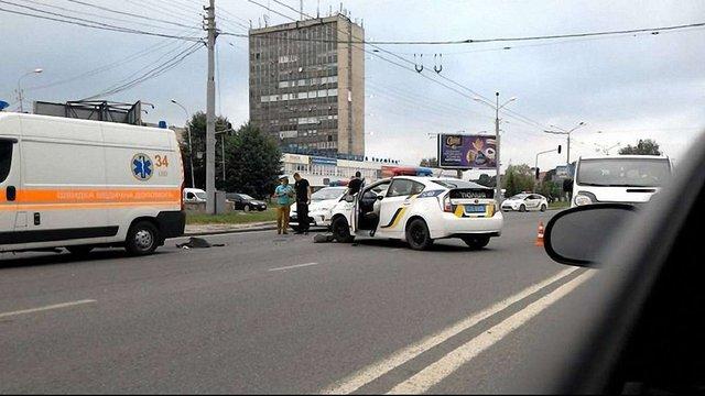 У Львові під час переслідування п'яний водій на Audi А6 врізався в авто патрульних