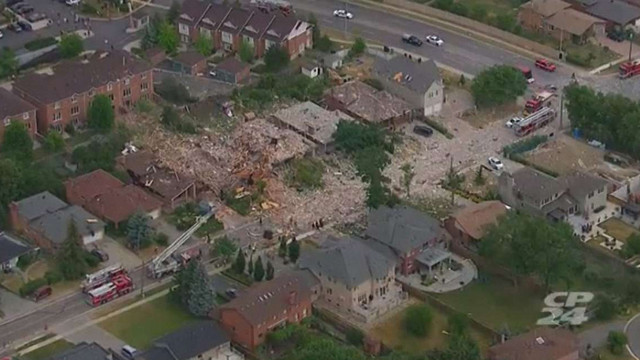 Потужний вибух у Канаді знищив і пошкодив 25 житлових будинків