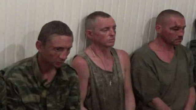 СБУ показала відео допиту восьми бойовиків, захоплених у полон під Маріуполем