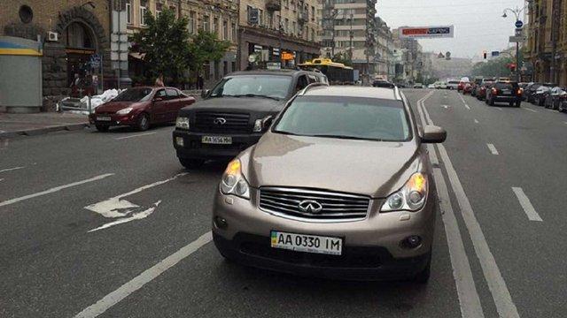 В Києві у заступника міністра вкрали автомобіль Infiniti EX35