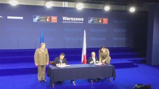 Україна і Польща підписали угоду про військову співпрацю і взаємне постачання озброєнь