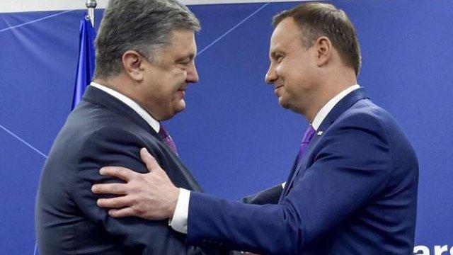 Президент Польщі подякував Порошенку за вшанування пам'яті жертв Волинської трагедії