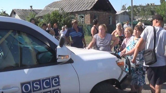 Мешканці окупованої Горлівки ледь не побили представників ОБСЄ  (відео)