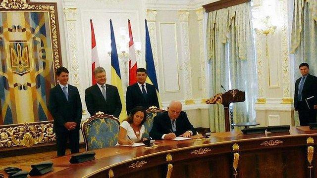 Україна і Канада підписали угоду про зону вільної торгівлі