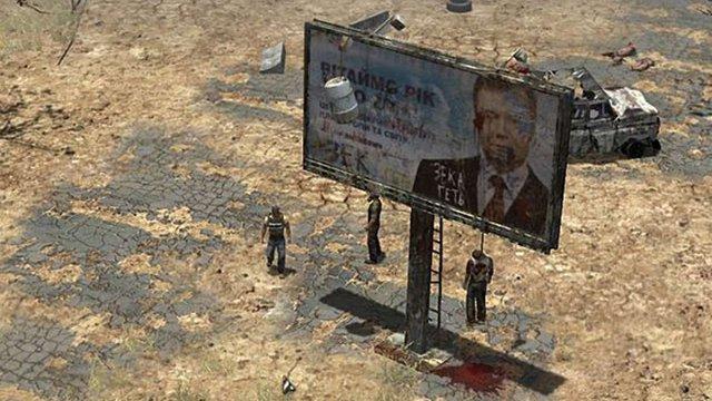 Білборд з портретом Януковича намалювали у новій постапокаліптичній відеогрі