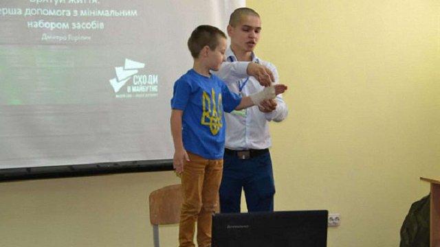 Дітям учасників АТО показали роботу львівських поліцейських