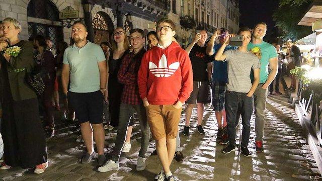 У центрі Львова показали світлове маппінг-шоу