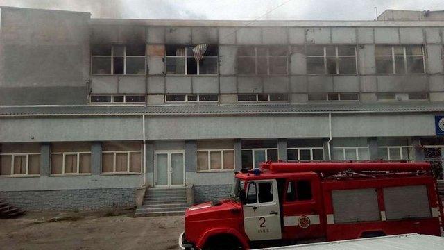 У Львові горіла пекарня на вул. Ясній