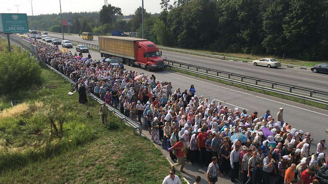 Учасники хресної ходи УПЦ (МП) продовжили рух до Києва