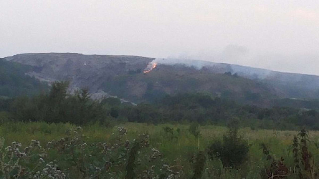 Зранку на Грибовицькому сміттєзвалищі виникло нове загорання