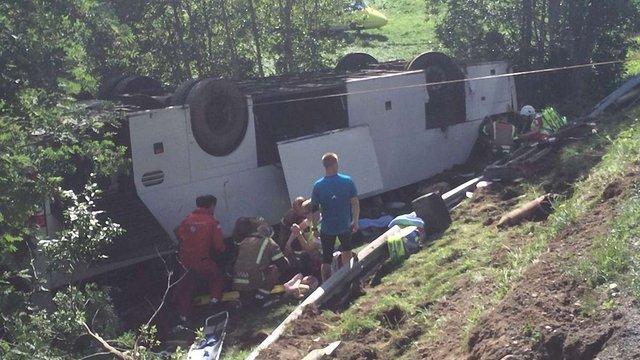 В Норвегії розбився туристичний автобус з українцями, 1 людина загинула