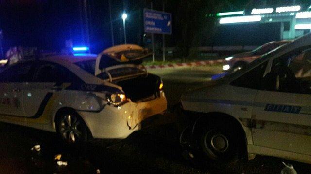 У Києві п'яний водій збив двох поліцейських під час оформлення ДТП