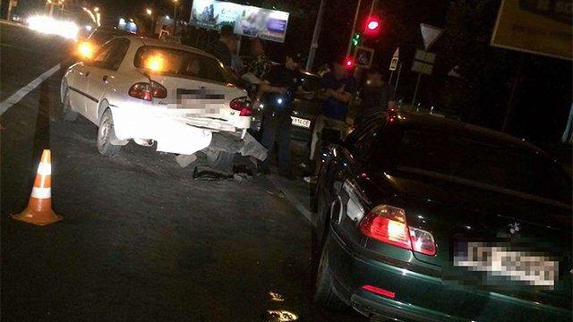 Львівські патрульні затримали нетверезого водія за ДТП із чотирма авто