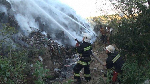 У Хмельницькому сталася пожежа на сміттєзвалищі