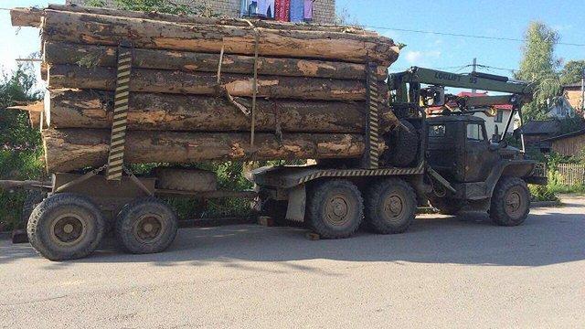 На Буковині затримали вантажівку з деревиною без дозвільних документів