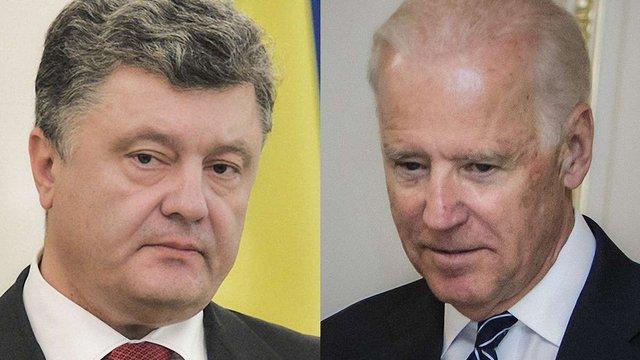 Порошенко провів телефонну розмову з віце-президентом США щодо ситуації в Криму