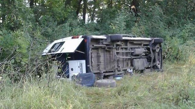 На Хмельниччині перекинувся автобус з паломниками, п'ять осіб травмовані