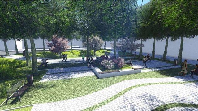 На площі Вишиваного розпочали облаштовувати новий громадський простір