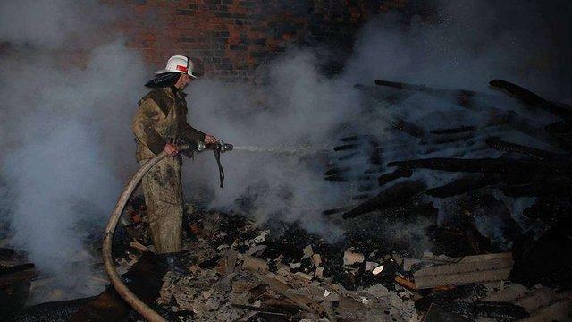 На Львівщині згоріло 10 тонн сіна