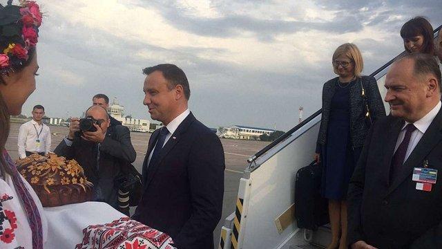 Президент Польщі прибув в Україну