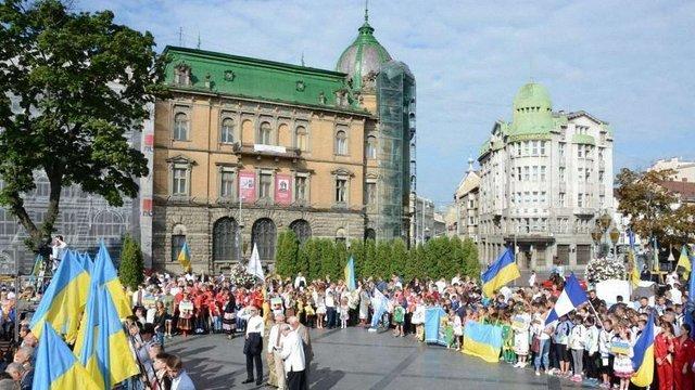 У центрі Львова відбулися урочисті заходи до 25-ї річниці незалежності України