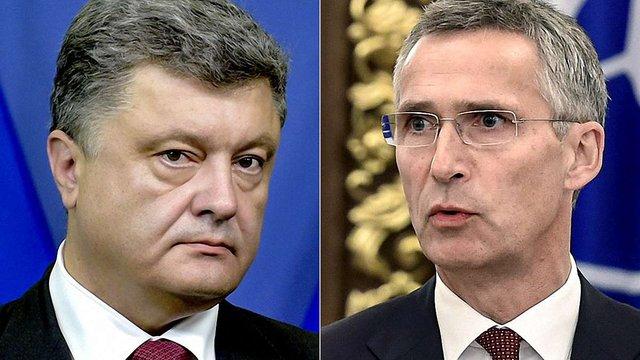 Порошенко обговорив з генсеком НАТО ескалацію ситуації на Донбасі