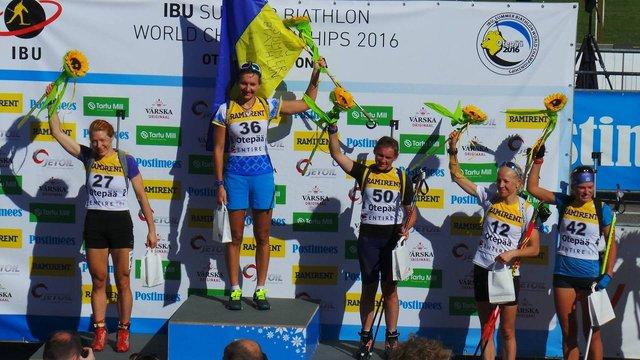 На літньому Чемпіонаті з біатлону українські спортсменки завоювали золото і бронзу
