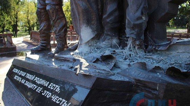 В окупованому Луганську пошкодили пам'ятник «захисникам ЛНР»