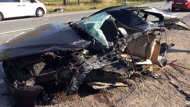 Внаслідок потрійної ДТП поблизу Стрия загинув водій BMW