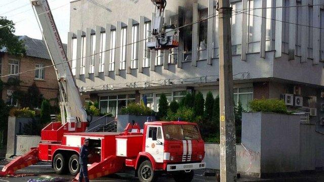 У ДСНС прокоментували пожежу у будівлі телеканалу «Інтер»