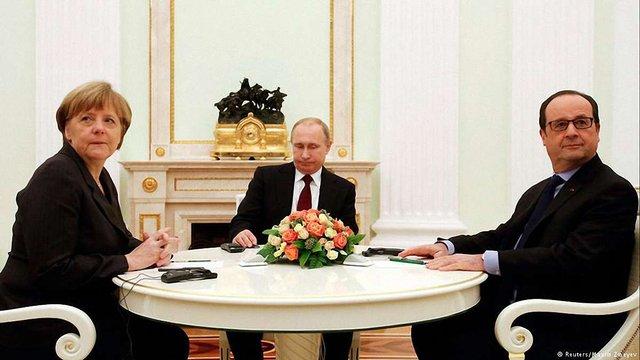 Меркель та Олланд зустрілися з Путіним в Китаї